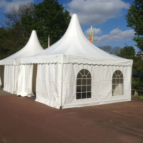 Tent pagode wit 500 x 500 cm